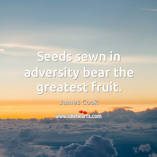 Seeds sewn in adversity bear the greatest fruit. Image
