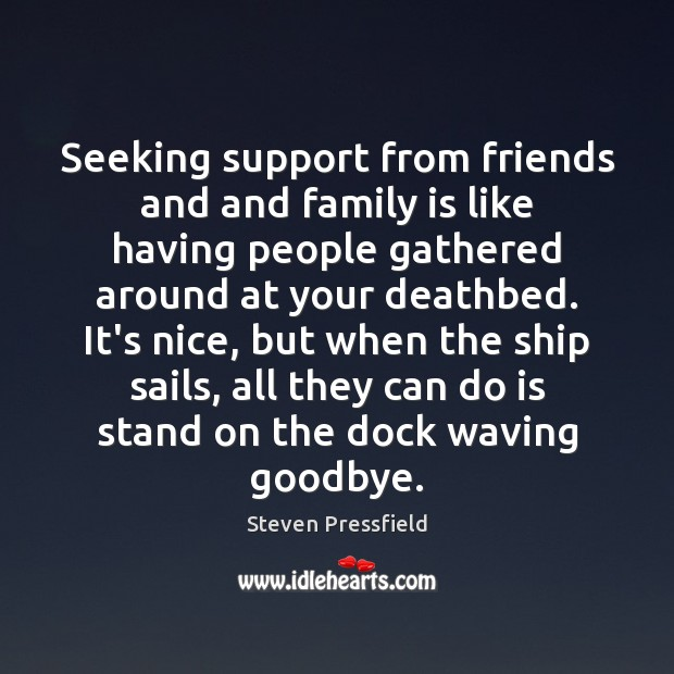 Seeking support from friends and and family is like having people gathered Image