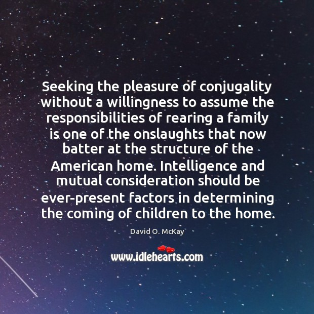Seeking the pleasure of conjugality without a willingness to assume the responsibilities Image