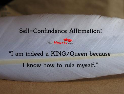 Self-confindence affirmation: Image