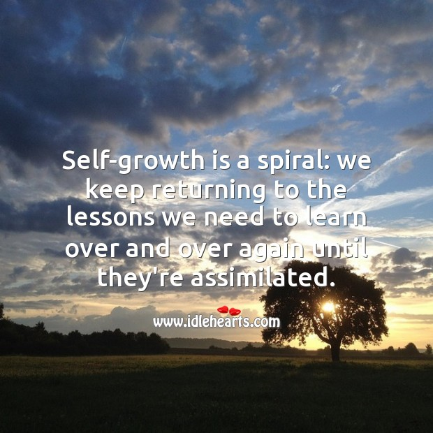 Self-growth is a spiral. Growth Quotes Image