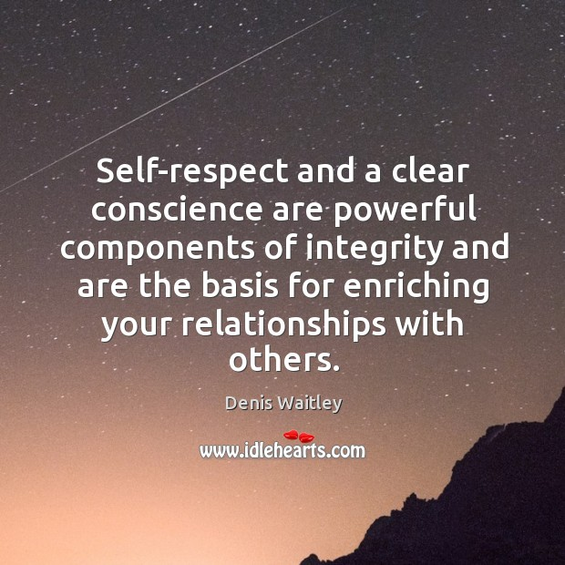 Self-respect and a clear conscience are powerful components of integrity and are Image