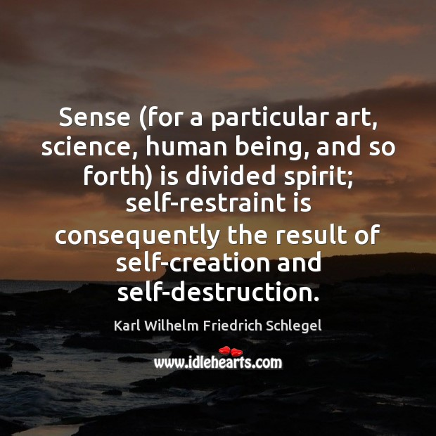 Sense (for a particular art, science, human being, and so forth) is Image