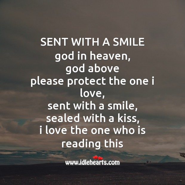 Sent with a smile God in heaven Image