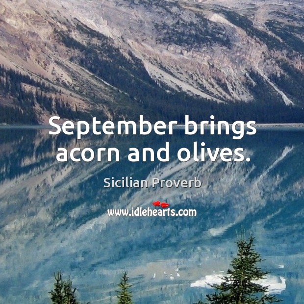 Image, September brings acorn and olives.