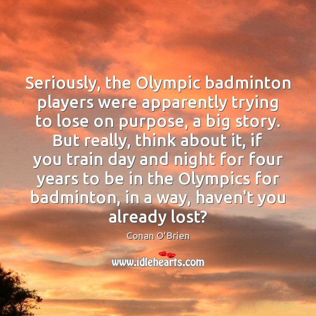Seriously, the Olympic badminton players were apparently trying to lose on purpose, Image