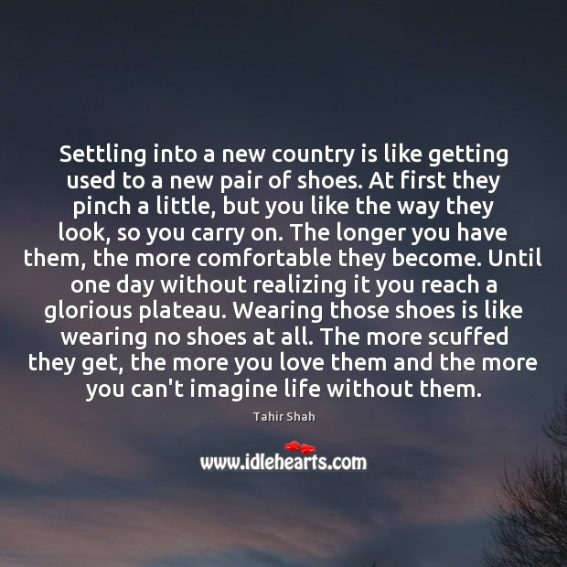 Settling into a new country is like getting used to a new Image