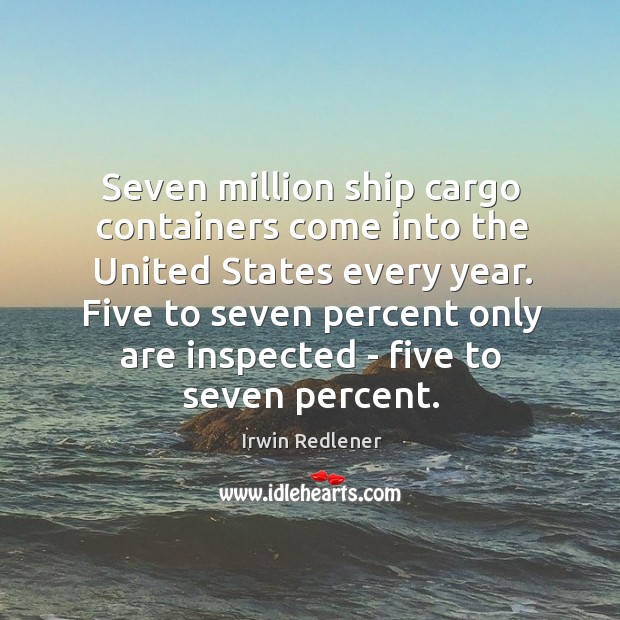 Seven million ship cargo containers come into the United States every year. Image
