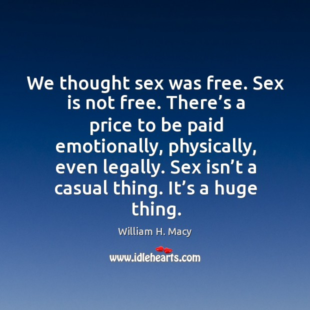 Image, Sex isn't a casual thing. It's a huge thing.