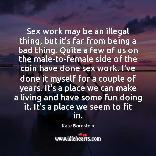 Image, Sex work may be an illegal thing, but it's far from being