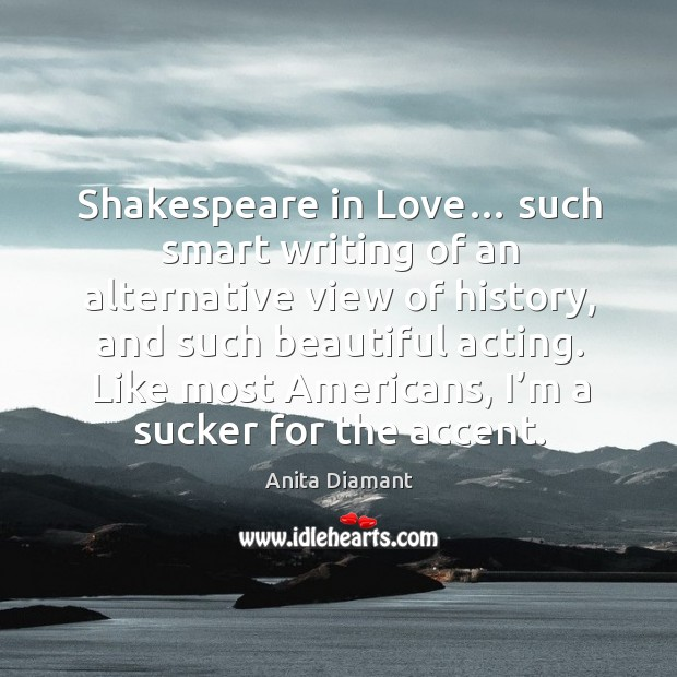 Shakespeare in love… such smart writing of an alternative view of history Image