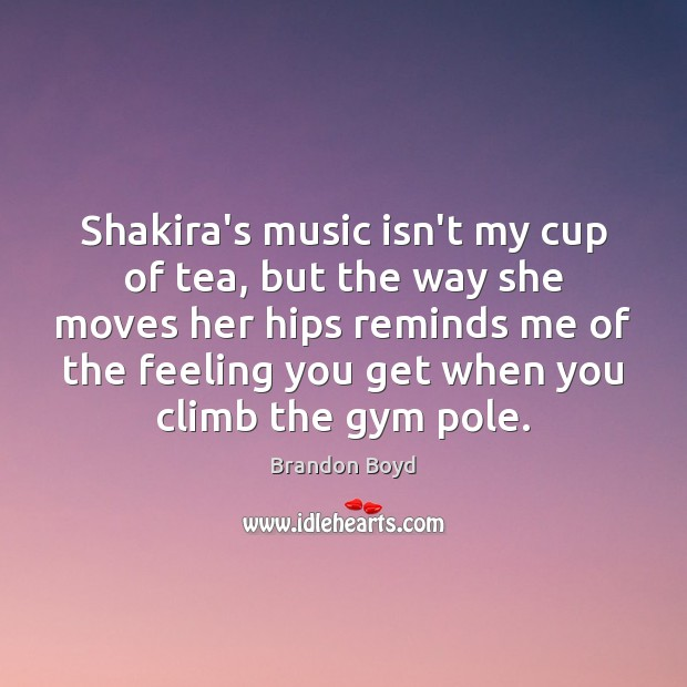 Shakira's music isn't my cup of tea, but the way she moves Image