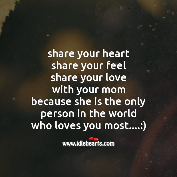 Share your heart Mother's Day Messages Image