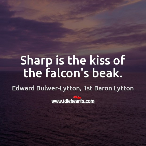 Image, Sharp is the kiss of the falcon's beak.