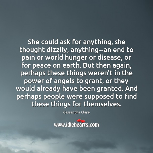 She could ask for anything, she thought dizzily, anything–an end to pain Image