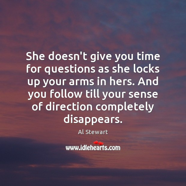 She doesn't give you time for questions as she locks up your Image