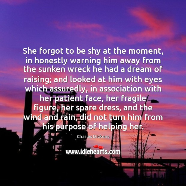 Image about She forgot to be shy at the moment, in honestly warning him