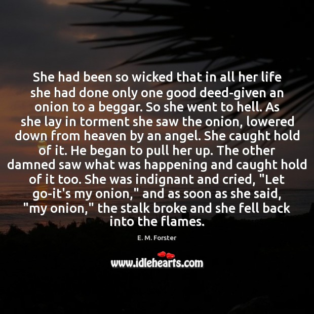 Image, She had been so wicked that in all her life she had