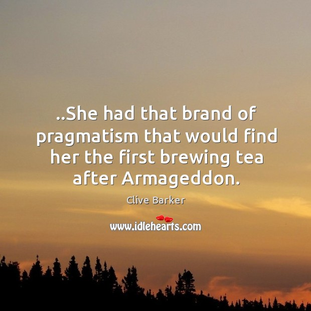 ..She had that brand of pragmatism that would find her the first Image