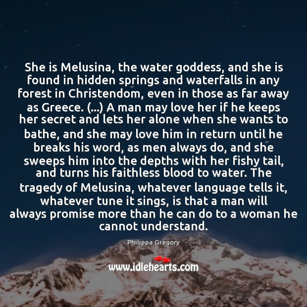 She is Melusina, the water Goddess, and she is found in hidden Image