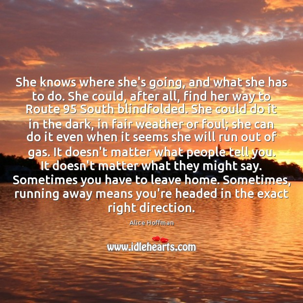 She knows where she's going, and what she has to do. She Image