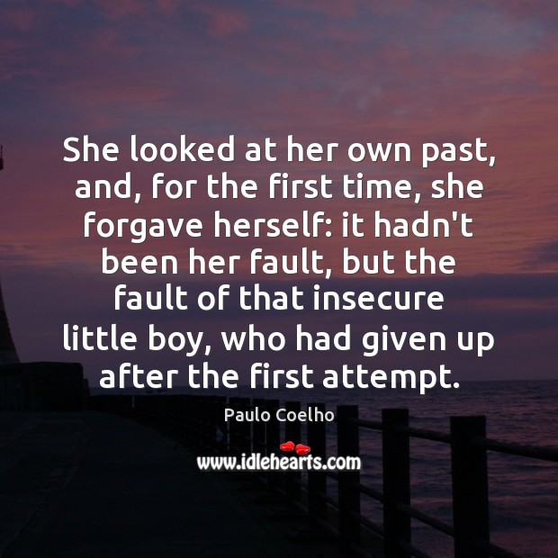 She looked at her own past, and, for the first time, she Image