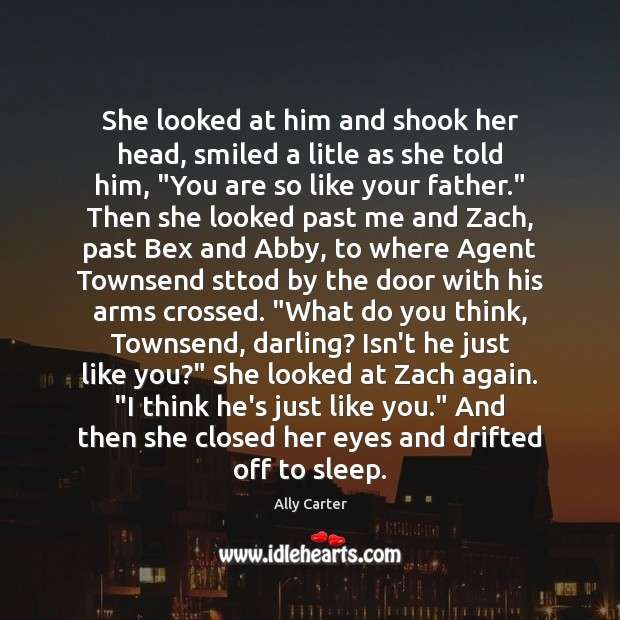 She looked at him and shook her head, smiled a litle as Image