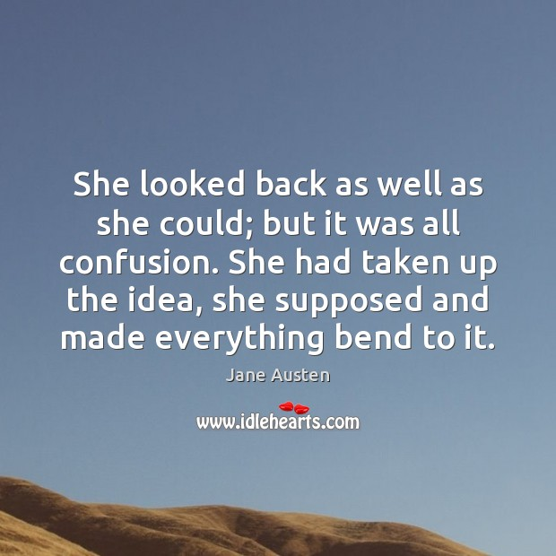 Image, She looked back as well as she could; but it was all