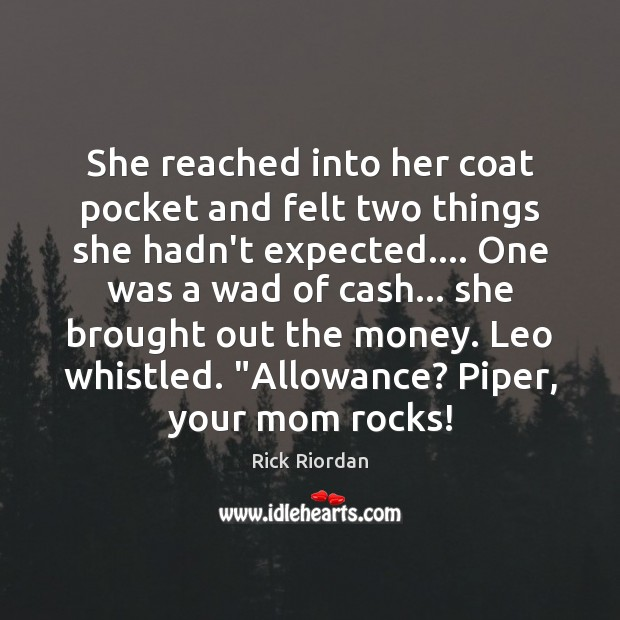 She reached into her coat pocket and felt two things she hadn't Image