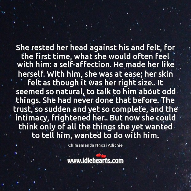 She rested her head against his and felt, for the first time, Image