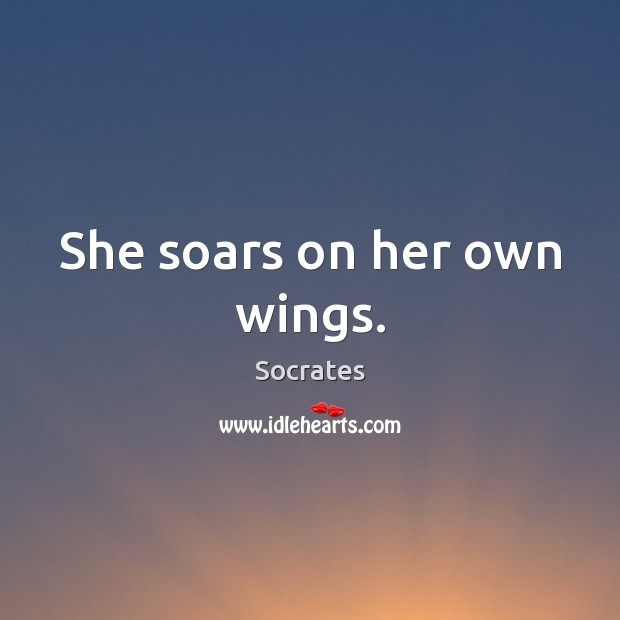 Image, She soars on her own wings.