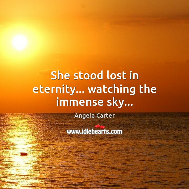 She stood lost in eternity… watching the immense sky… Image
