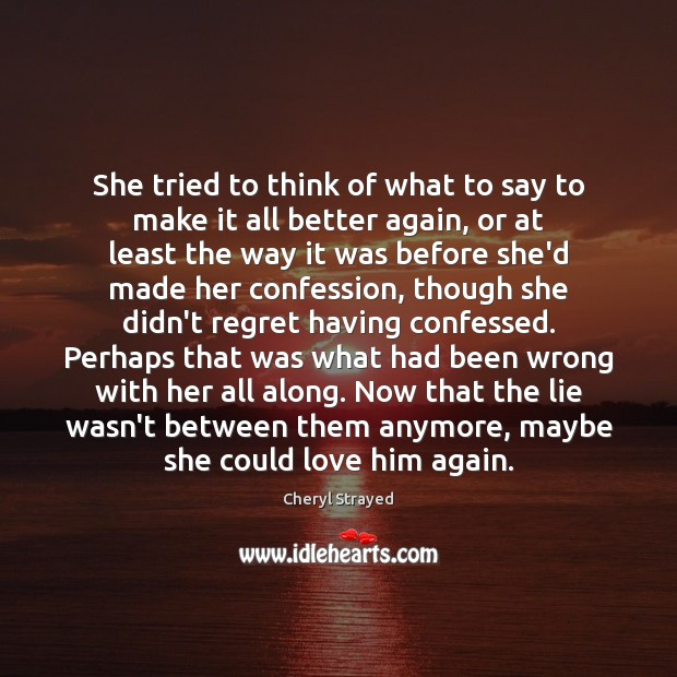 She tried to think of what to say to make it all Image