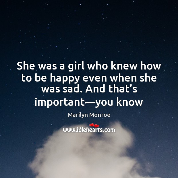 She was a girl who knew how to be happy even when Image