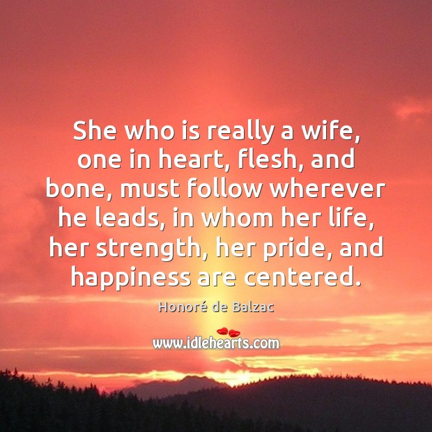 She who is really a wife, one in heart, flesh, and bone, Image