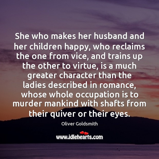 Image, She who makes her husband and her children happy, who reclaims the