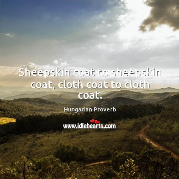Sheepskin coat to sheepskin coat, cloth coat to cloth coat. Image