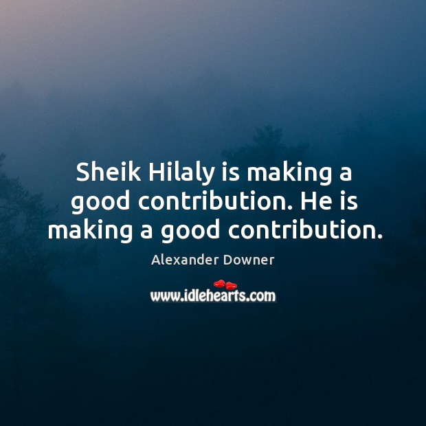 Image, Sheik hilaly is making a good contribution. He is making a good contribution.