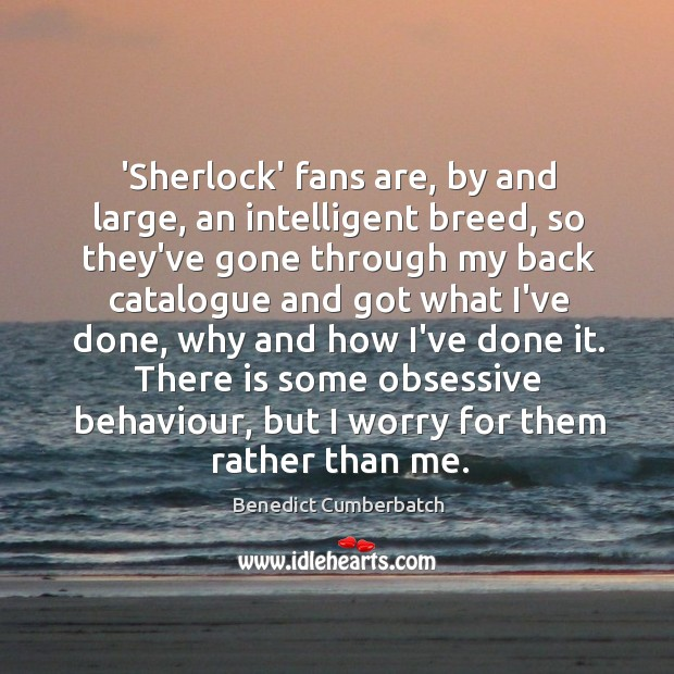 Image, 'Sherlock' fans are, by and large, an intelligent breed, so they've gone