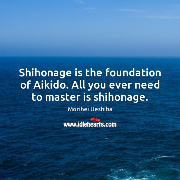 Image, Shihonage is the foundation of Aikido. All you ever need to master is shihonage.