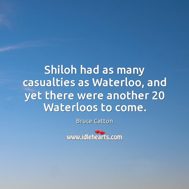 Image, Shiloh had as many casualties as Waterloo, and yet there were another 20