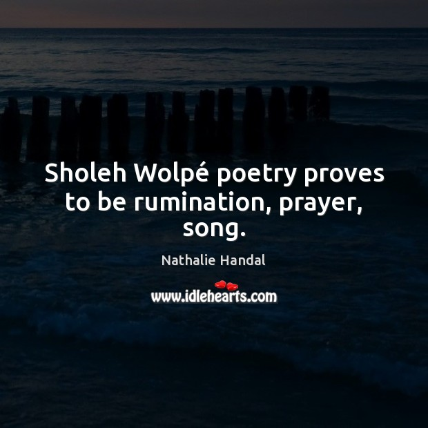Sholeh Wolpé poetry proves to be rumination, prayer, song. Image