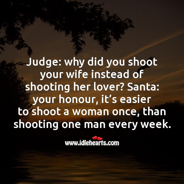 Shooting her lover Funny Messages Image