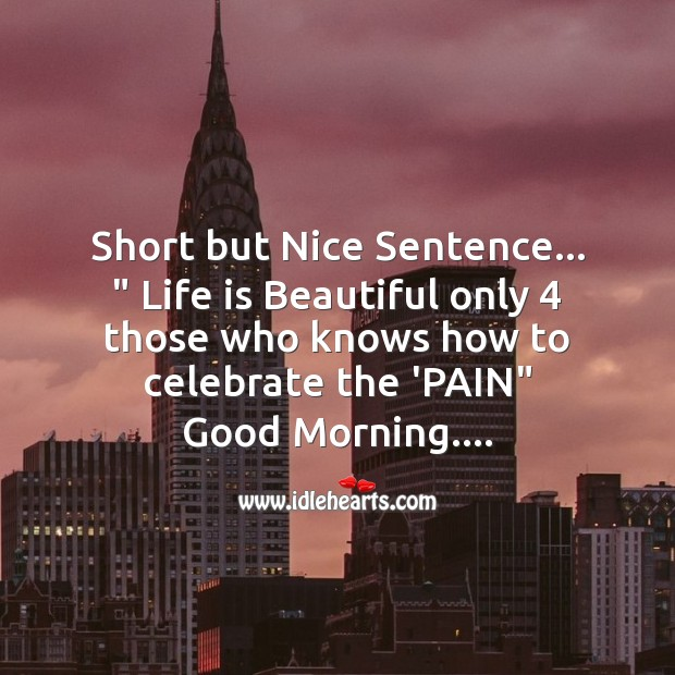 Short but nice sentence Life is Beautiful Quotes Image