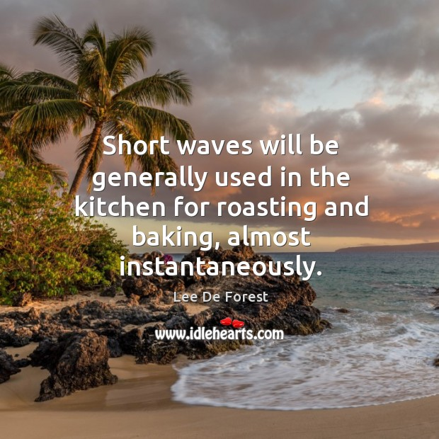 Short waves will be generally used in the kitchen for roasting and baking, almost instantaneously. Image