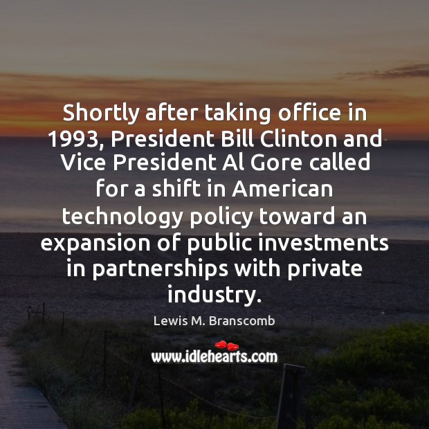 Shortly after taking office in 1993, President Bill Clinton and Vice President Al Image