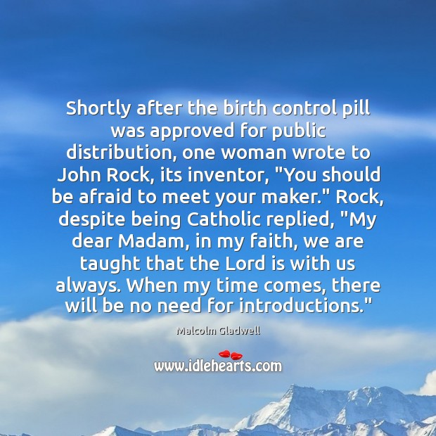 Image, Shortly after the birth control pill was approved for public distribution, one