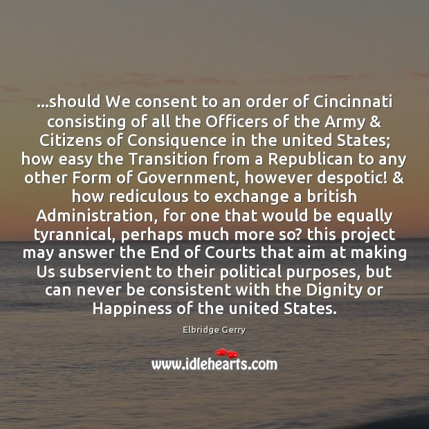 …should We consent to an order of Cincinnati consisting of all the Image