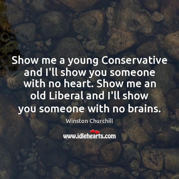 Show me a young Conservative and I'll show you someone with no Image
