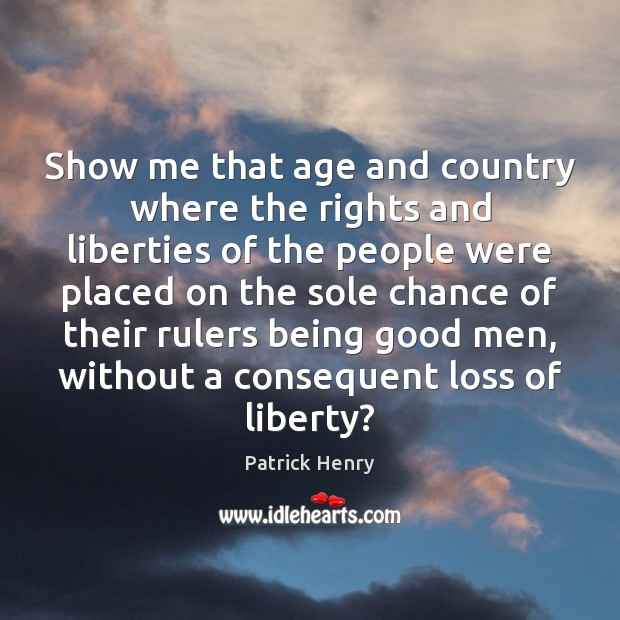 Show me that age and country where the rights and liberties of Image